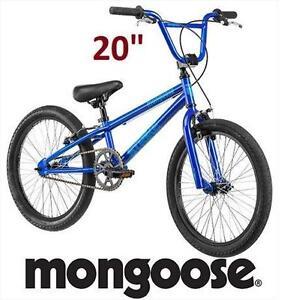 "NEW MONGOOSE 20"" BOYS BIKE BLUE BICYCLE 107977910"