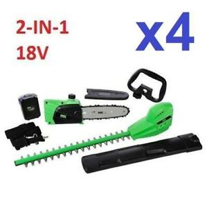 4 NEW DOC POLE SAW  HEDGE TRIMMER 559-581 235980078 18V 2-IN-1