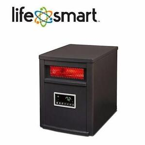 NEW LIFESOURCE INFRARED HEATER LIFE ZONE SERIES 1500 WATT INFRARED ELECTRIC HEATER METAL CABINET REMOTE CONTROL 90081550