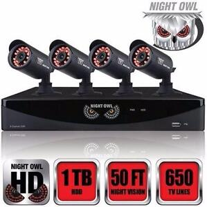 REFURB NIGHT OWL 8CH SECURITY SYS   8-Channel F6 Series 960H DVR with HDMI, 1TB HDD and 4 x 650 TVL Cameras 98210822
