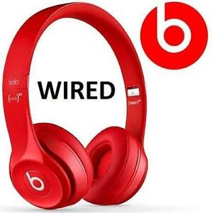 NEW OB BEATS SOLO2 HEADPHONES RED - ON-EAR - SOLO 2 - WIRED - HOME AUDIO ELECTRONICS - NEW OPEN BOX 90056772