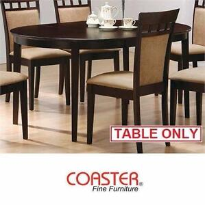 NEW* COASTER WOOD OVAL DINING TABLE CONTEMPORARY CAPPUCCINO FINISH - DINING DECOR FURNITURE TABLES DINNER  86207698