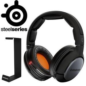 NEW STEELSERIES HEADSET W/ STAND - 128150473 - FACTORY SEALED SIBERIA 840 WIRELESS HEADSET + HEADSET STAND