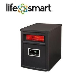 NEW LIFESOURCE INFRARED HEATER LIFE ZONE SERIES 1500 WATT INFRARED HEATER WITH METAL CABINET AND REMOTE CONTROL
