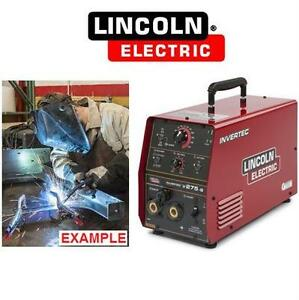 NEW LINCOLN INVERTEC STICK WELDER LINCOLN ELECTRIC - STICK TIG WELDER  Business Industrial Manufacturing Metalworking