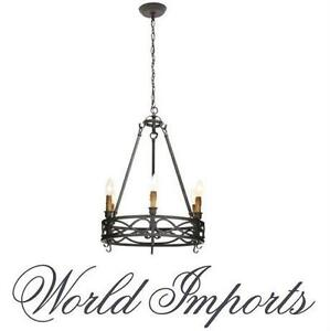 NEW WI 6-LIGHT CHANDELIER TEXTURED RUST - WORLD IMPORTS - Home Lighting & Ceiling Fans Hanging Lights 77960732
