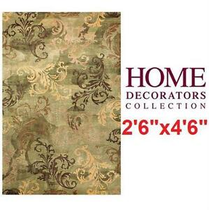 "NEW HDC SYMPHONY ACCENT RUG 2'6""x4'6"" - SAGE GREEN - HOME DECORATORS COLLECTION Home Flooring Living Dining Room"