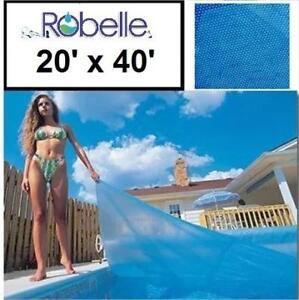 NEW ROBELLE SOLAR POOL COVER 2040RS-10SBD BOX 188334326 RECTANGULAR 20' x 40'