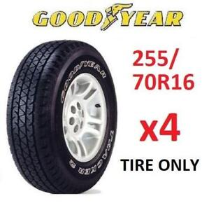4 NEW GOODYEAR TRACKER 2 TIRES 336-601-165 183700164 P255/70R16 ALL SEASON TIRE 109S 16""
