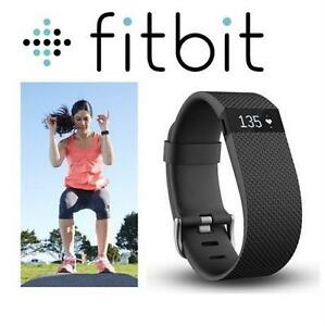 REFURB FITBIT FITNESS TRACKER HR LG CHARGE - LARGE - BLACK - WIRELESS exercise running jogging 79620941