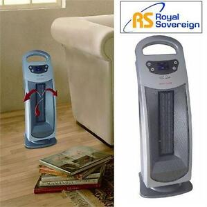 NEW RS DIGITAL CERAMIC TOWER HEATER ROYAL SOVEREIGN - HOME SPACE HEATER 76603130