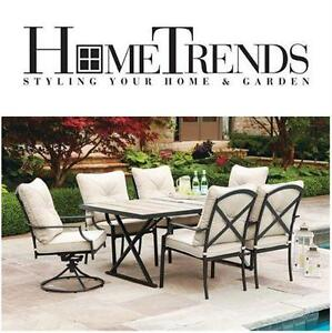 USED* PARKLAWN 6 PIECE DINING SET TILE TOP DINING SET - PATIO FURNITURE OUTDOOR LIVING HOME  79237468