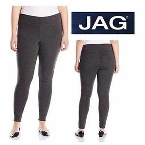 NEW JAG LEGGINGS WOMEN'S 16W   WOMEN'S 16 W - PLUS SIZE - CHARCOAL HEATHER - PANTS  CLOTHING BOTTOMS  84776722
