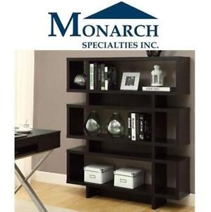 "NEW* MONARCH MODERN BOOKCASE I2531 213015226 55"" HOLLOW-CORE BROWN"