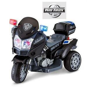 NEW KIDTRAX POLICE TRIKE RIDE ON 6V KID'S RIDE-ON TOY - BATTERY POWERED MOTORBIKE MOTORCYCLE BIKE BIKES RIDE-ON