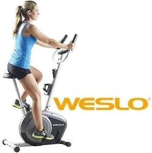 NEW* WESLO PURSUIT FITNESS BIKE EXERCISE BIKE - UPRIGHT - CT 2.4 - EXERCISE FITNESS EQUIPMENT MACHINE WORKOUT 109738217