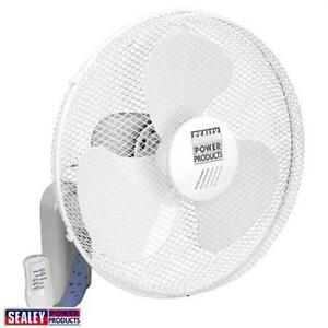 Sealey-Air-Cooling-Wall-Mounted-Fan-3-Speed-16-With-Remote-Control-230v