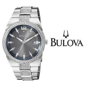 USED MEN'S BULOVA WATCH 96B221 214638543 JEWELLERY JEWELRY STAINLESS STEEL CRYSTAL ANALOG QUARTZ