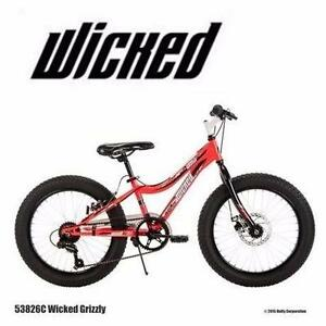 "NEW* HUFFY 20"" FAT TIRE BIKE BOY'S  20"" BOY'S FAT TIRE BICYCLE WICKED GRIZZLY 7 SPEED BIKE RIDING CYCLING  82871694"