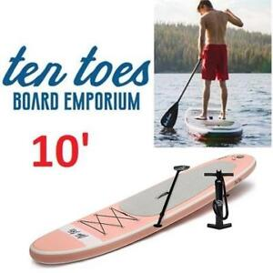 NEW TEN TOES 10' PADDLE BOARD 2588 183877049 PADDLEBOARD STAND UP  INFLATABLE W/PUMP BLUSH PINK