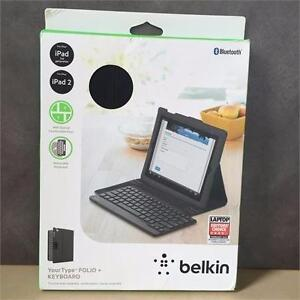NEW, Belkin Black Folio And Keyboard for iPad 2,3 ,4 - F5L114TTC00