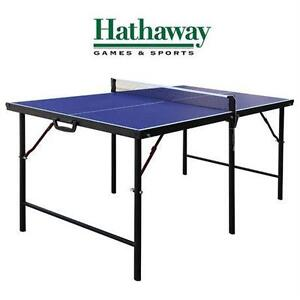 """NEW* HATHAWAY 60"""" TABLE TENNIS SET CROSSOVER PORTABLE TABLE PING PONG TABLE 75864426"""
