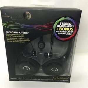 Able Planet SH180BMM-SI170B Stereo Headphones + Bonus Sound Isolation Earphones