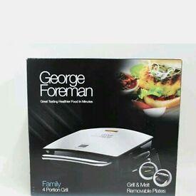 George Foreman Fat reducing health Grill Chrome