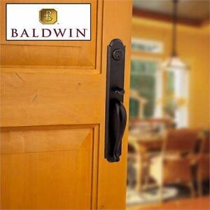 NEW* BALDWIN ENTRY HANDLESET Prestige Bighorn Venetian Bronze Handle Set with Carnaby Entry Knob and SmartKey  84711104