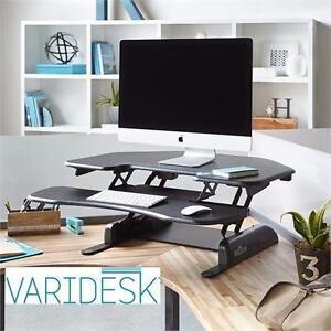 NEW VARIDESK ADJ CUBICLE DESK Height-Adjustable Standing Desk for Cubicles - Cube Corner 36 - OFFICE ergonomic  82562675