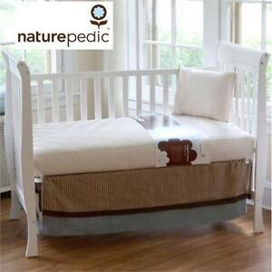 NEW NATUREPEDIC CRIB MATTRESS ORGANIC COTTON Classic Seamless 2-stage Crib Mattress baby furniture bed bedding infant