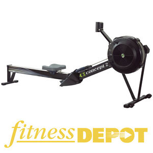 CONCEPT II Model D with PM5 Rower - Black COIIDPM5BLK