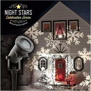 NEW NIGHT STARS LIGHT PROJECTOR HOLIDAY CELEBRATION SERIES - INCLUDES 12 DIFFERENT PATTNERS - 3 MOTION SPEEDS  84926364