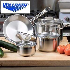 NEW 7PC VOLLRATH COOKWARE SET   Optio Deluxe Cookware Set, 7-Pieces, Stainless Steel KITCHEN POTS PANS SAUCEPAN 96767531