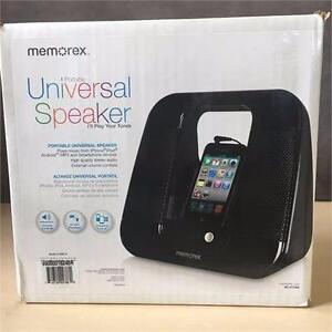 Refurbished Memorex Universal Portable Speaker, Model 410BK-R (Black)