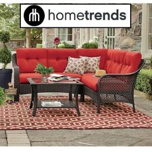 NEW 4PC HOMETRENDS SECTIONAL SET LG8209-S4PCRD 197274886 PATIO SOFA TUSCANY RED