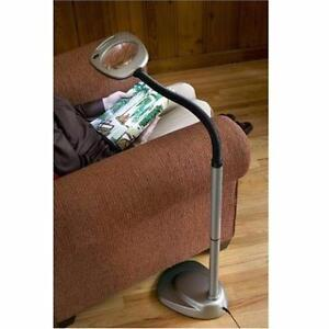 USED LIGHT IT WIRELESS FLOOR LAMP LED - MAGNIFIER ADJUSTABLE - BATTERY OR ADAPTOR - LAMPS LIGHTS LIGHTING DECOR 93697509
