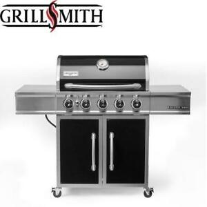 NEW* GRILL SMITH PREMIUM GAS GRILL GR2264401-GS-00 201941106 5 BURNER