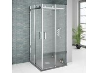 Orion Square 800 x 800mm Frameless Corner Entry Shower Enclosure