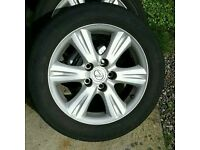 "5x114.3 16"" alloys with good tyres Toyota mazda lexus honda"