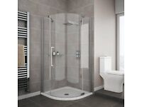 Quadrant Shower enclosure (No Tray included)