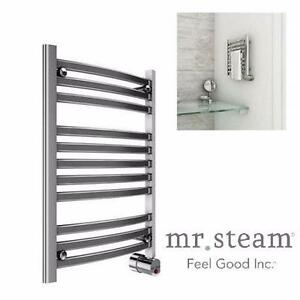 NEW MR. STEAM TOWEL HEATER   8-BAR WALL MOUNTED ELECTRIC TOWEL WARMER IN POLISHED CHROME 90961561