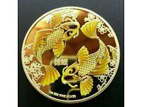 KOI CARP FISH COIN