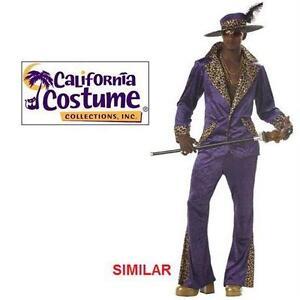 NEW CC PIMP COSTUME MEN'S LG CALIFORNIA COSTUMES - PURPLE - HALLOWEEN COSTUME  78591834