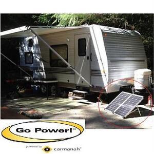 NEW GO POWER 120 WATT SOLAR KIT PORTABLE FOLDING - 10 AMP SOLAR CONTROLLER - RV CHARGER TRAILER CAMPING TOOLS  79803356