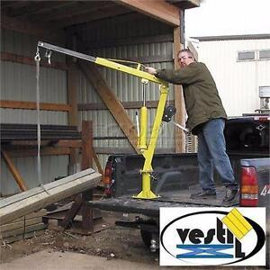 NEW VESTIL STEEL TRUCK JIB CRANE 1000lbs - Vestil Steel Winch Operated Pickup, Trailer Truck Jib Crane WTJ-2  89230470
