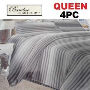 NEW BAMBOO 4PC BED SHEET SET QUEEN 1122K 238770689 HOME LUXURY 9500 QUEEN DEEP POCKET WRINKLE FREE BEDDING BEDROOM 10...