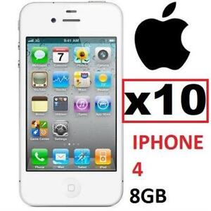 10 NEW APPLE IPHONE 4 8GB LOCKED MD198C/A 135223618 WHITE - CELL PHONE - SMARTPHONE SMART PHONE