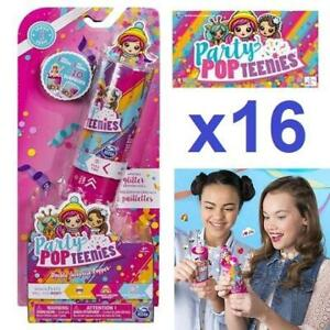 4 NEW 4PK PARTY POPTEENIES 250485791 Double Surprise Popper with Confetti Collectible Mini Doll and Accessories