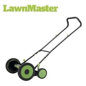 "OB LAWNMASTER REEL PUSH MOWER LMRM1601 200694761 LAWNMOWER 16"" 5 BLADES 9 CUTTING HEIGHTS OPEN BOX"